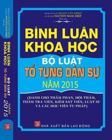 Sách Bình luận khoa học Bộ luật tố tụng dân sự năm 2015