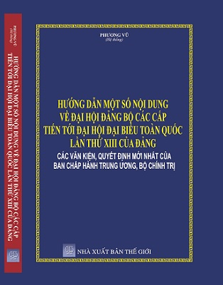 Sách HƯỚNG DẪN MỘT SỐ NỘI DUNG VỀ ĐẠI HỘI ĐẢNG BỘ CÁC CẤP