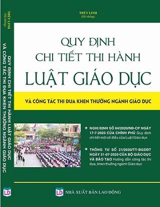 Sách Quy định chi tiết thi hành Luật Giáo dục & Công tác thi đua, khen thưởng ngành Giáo dục